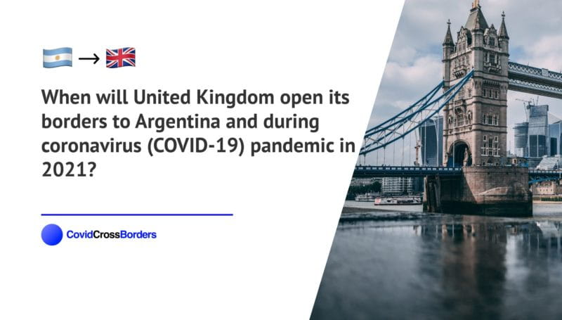 When will United Kingdom open its borders to Argentina and  during coronavirus (COVID-19) pandemic in 2021?