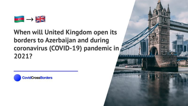 When will United Kingdom open its borders to Azerbaijan and  during coronavirus (COVID-19) pandemic in 2021?