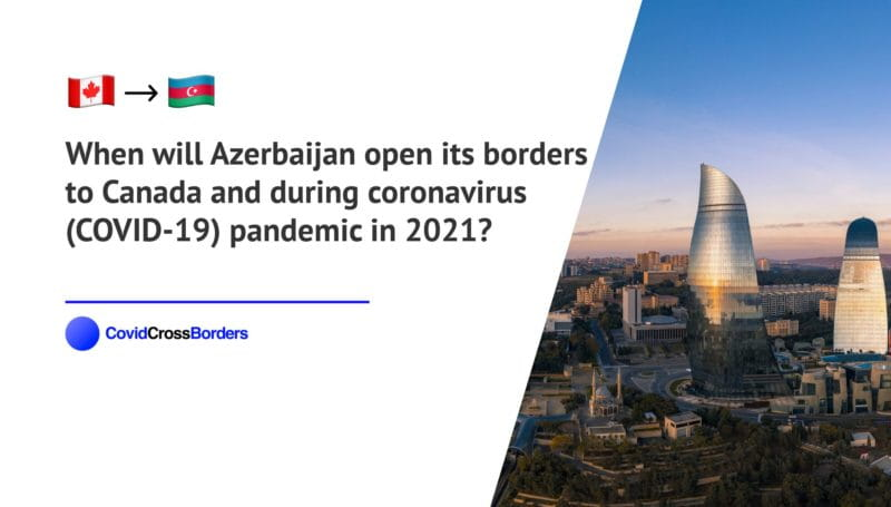 When will Azerbaijan open its borders to Canada and  during coronavirus (COVID-19) pandemic in 2021?