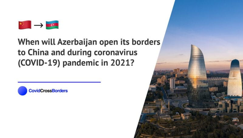 When will Azerbaijan open its borders to China and  during coronavirus (COVID-19) pandemic in 2021?