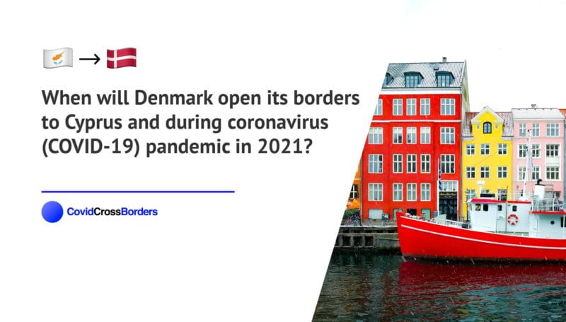 When will Denmark open its borders to Cyprus and  during coronavirus (COVID-19) pandemic in 2021?