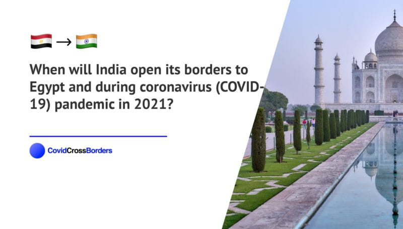 When will India open its borders to Egypt and  during coronavirus (COVID-19) pandemic in 2021?