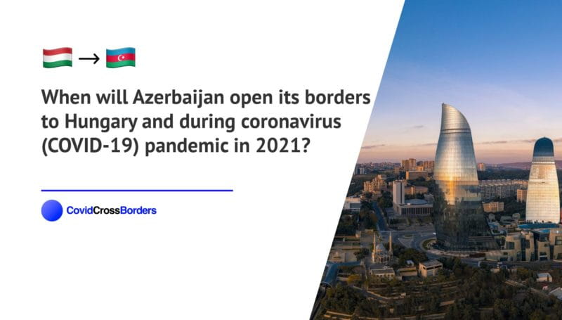 When will Azerbaijan open its borders to Hungary and  during coronavirus (COVID-19) pandemic in 2021?